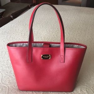 Michael Kors Red Leather Bucket Purse